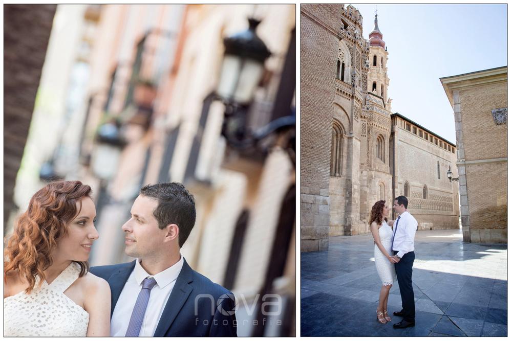 Foto de Boda novios en la Seo de Zaragoza